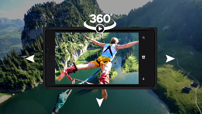 Video 360 : watch a video by controlling the video camera