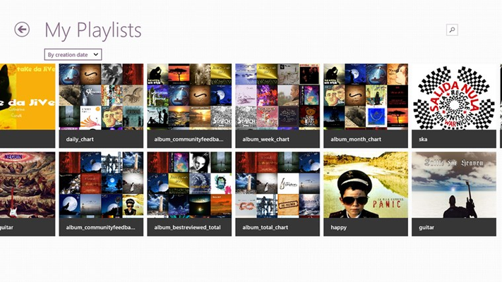 Play your playlists managed from Jamendo website.