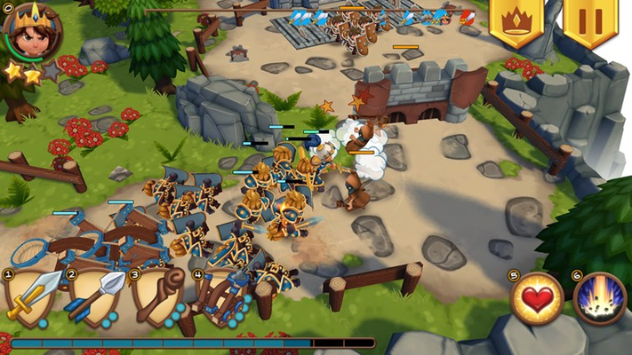 Use the simple touch and/or mouse controls to direct your troops