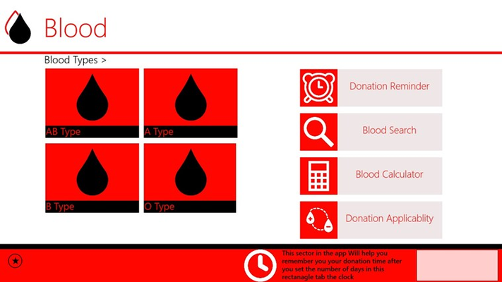 Donation Reminder sector in the application after you click the period click on clock logo to set the reminder