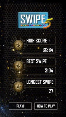 Track highest scores and best swipes.