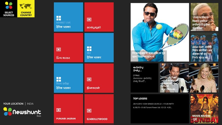 NewsHunt for Windows 8