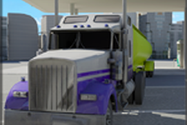City Cargo Trailer Transporter 3D