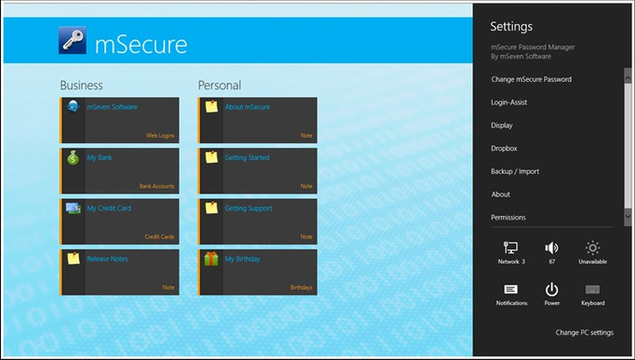 mSecure for Windows 8