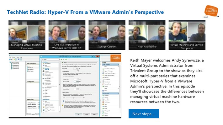 Videos, Demos and Step-by-Step Articles for learning Hyper-V