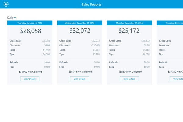 View Sales Reports