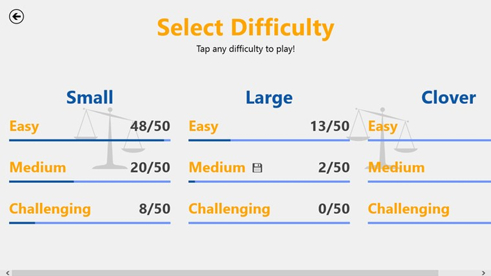 Choose from 3 different modes each with 3 difficulties!
