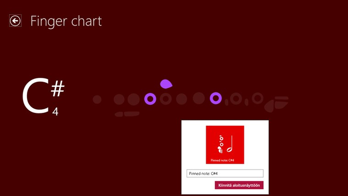 Pin the most important finger charts to your start menu.
