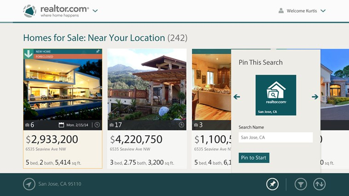 Real Estate Search by Realtor.com® for Windows 8
