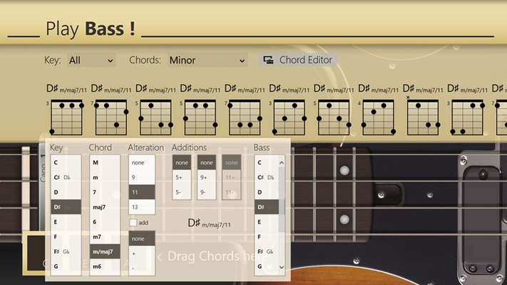Advanced chord editor (in-app purchase)