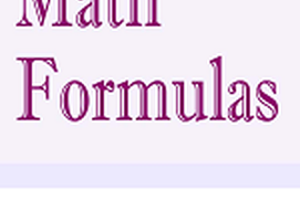 Maths Formulas and definitions