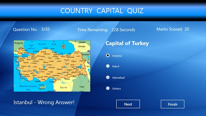 Guess the Capital of the given country