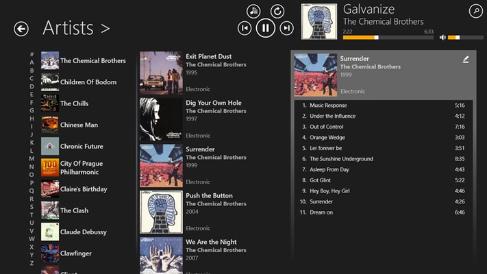 Music Mode for Windows 8