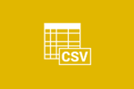Open your CSV File