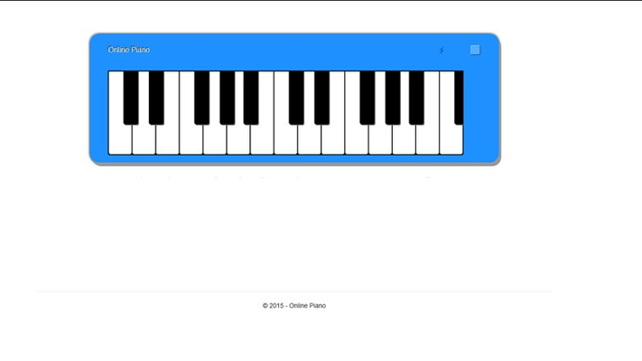Free Online Piano for Windows 8