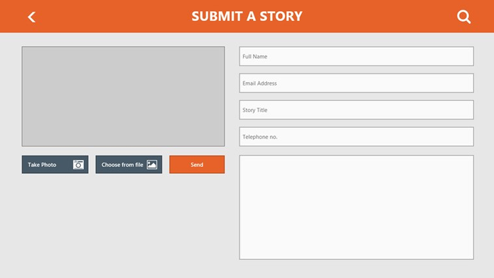 Submit a story: Submit images or photos from your webcam along with your story