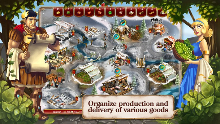 Organize production and delivery of various goods!