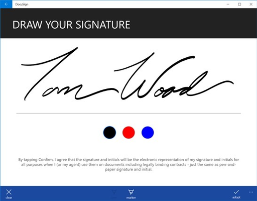 Pressure sensitive signatures using Direct Ink