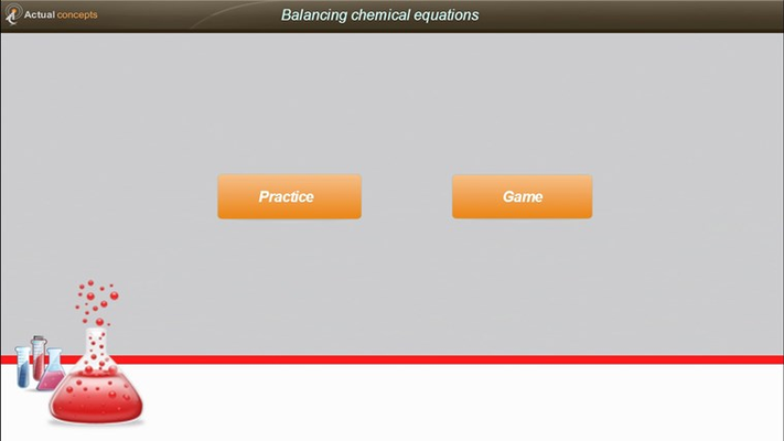 Launch screen with options of Practice OR Play