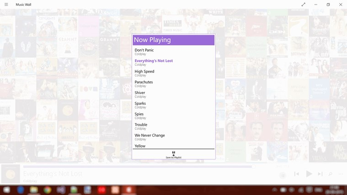Manage now playing queue & create new playlists.