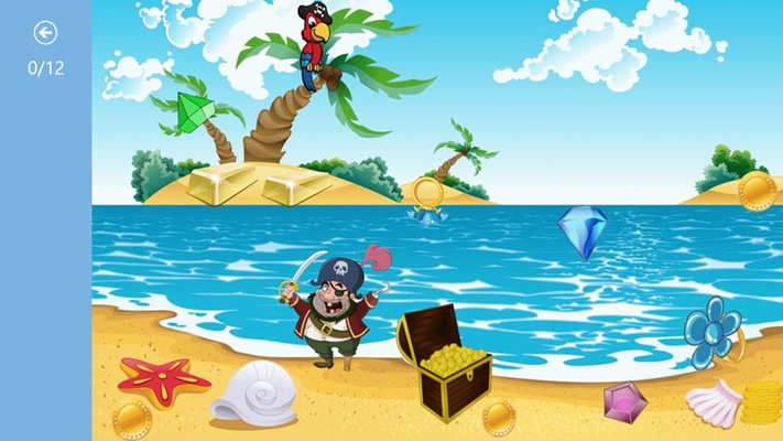 Help the pirate find all the treasure