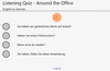 German Listening Quiz