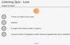 Italian Listening Quiz