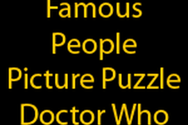 Famous People Picture Puzzle Doctor Who