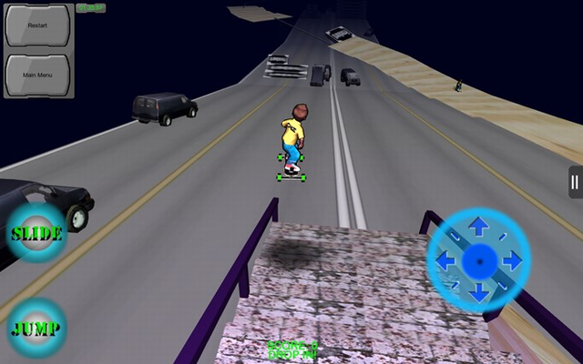 Freebord The Game has even a space level