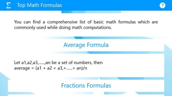 Top Math Formulas