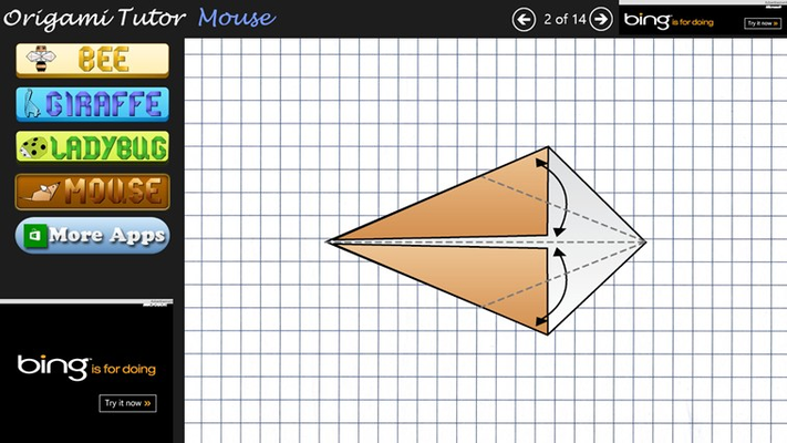 Origami Steps for Mouse