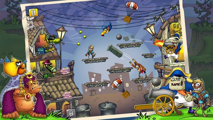Crash the armies oa supervillains.