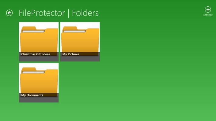 Add, delete, or look inside your folders