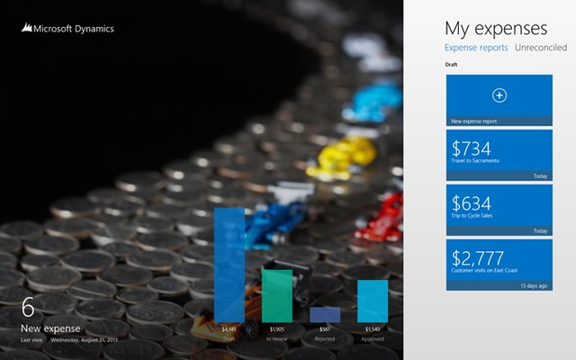 Dynamics AX 2012 Expenses for Windows 8