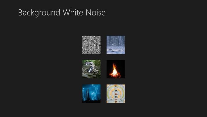 Background White Noise Player home page