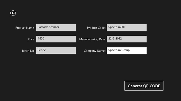 QR From File for Windows 8