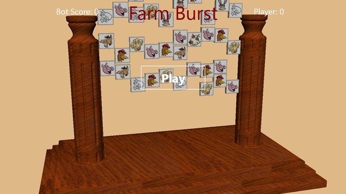 Get 3 or more in a row to burst the animals!