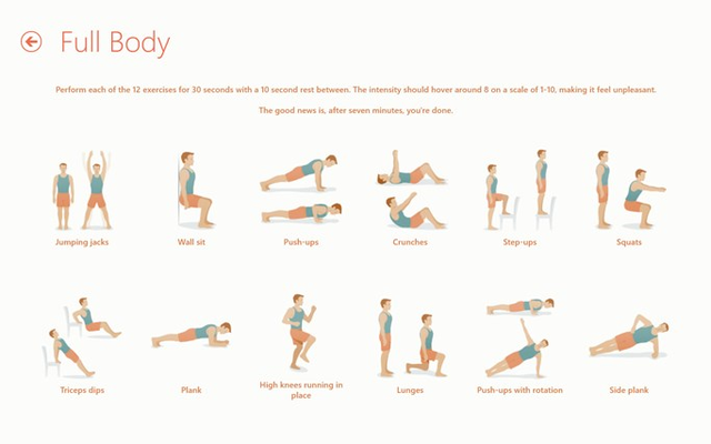 Scientific Workouts: With visual and spoken cues