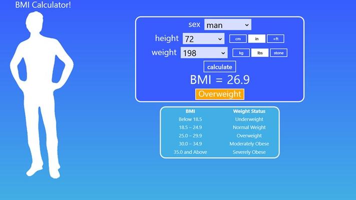 BMI Calculator using imperial units