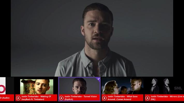 Justin Timberlake Videoz for Windows 8