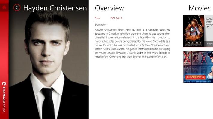 Actor details