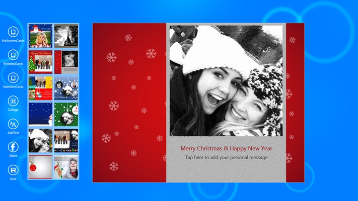 Add Text/Wishes to wish your dear ones on Christmas