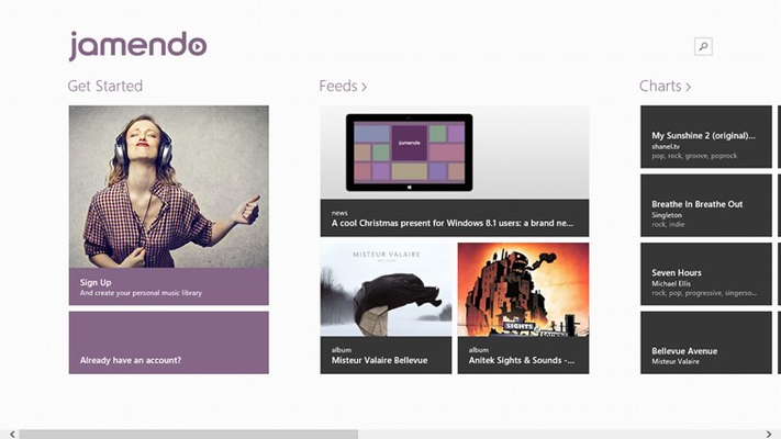 Find the latest charts and feeds from Jamendo