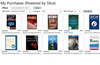 """Search Screen: an example, searching by the """"Books"""" Category."""