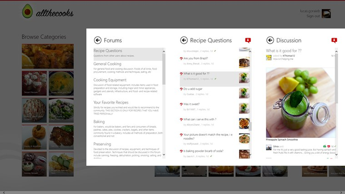 The social cooking app! Talk with other cooks!