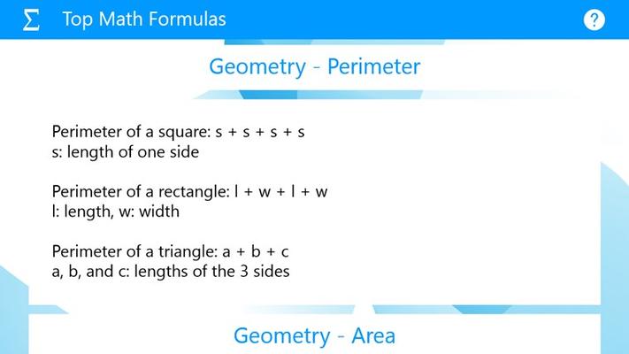 Geometry Formulas: Perimeter