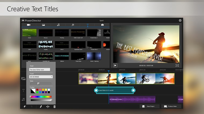 Complete your videos with easy-to-add titles