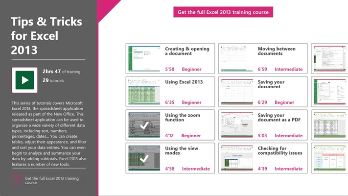 More than 29 tips and tricks to help you get to grips with Excel 2013