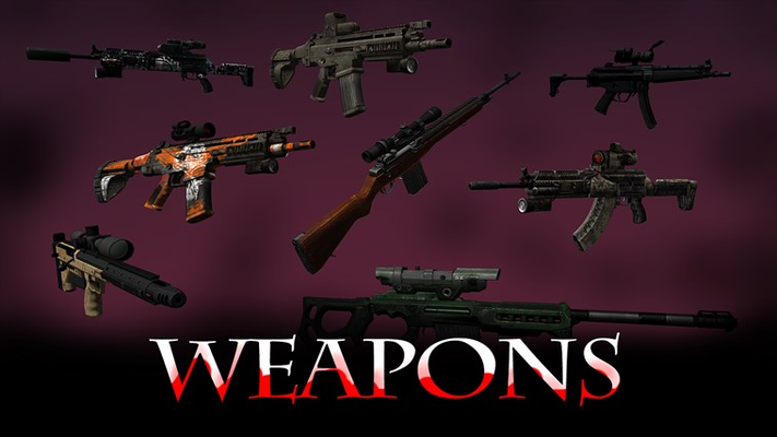 Tons of weapons!
