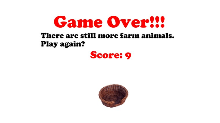 Game Over-Try Again!